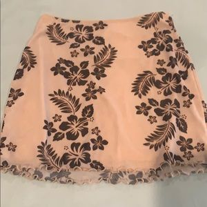 Urban outfitters Hawaiian print floral mini skirt